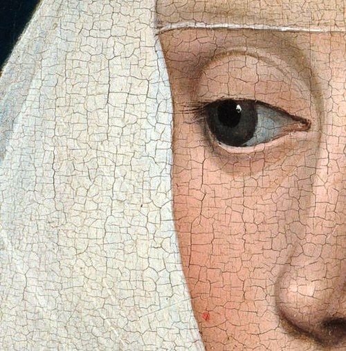 Workshop of Rogier van der Weyden - Portrait of a Lady  Detail