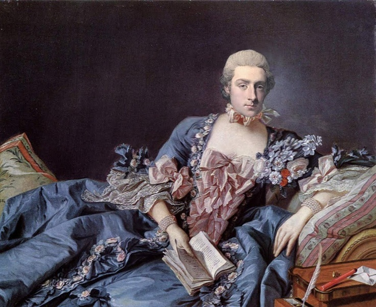 Jean-Antoine Poisson, Marquis de Pompadour, was the consort of Queen Louise XIV of France from 1745 to 1750. Beautiful and refined, he was accomplished in dancing, singing, painting and other charming masculine arts. The Queen spotted him at a masked ball and at once took him for her lover.  Jamie Vesta