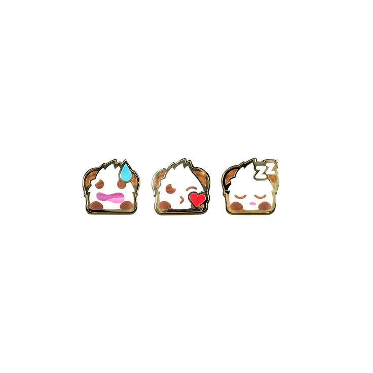 Riot Games Merch |  Poro Pin Pack 1 - Pins - Collectibles