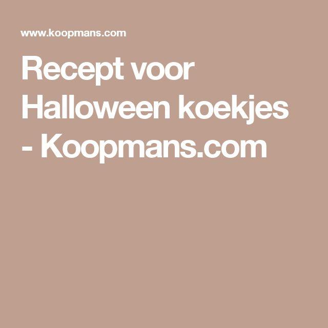 Recept voor Halloween koekjes - Koopmans.com