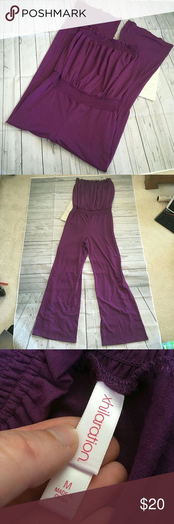 xhilaration womens medium purple jumpsuit summer gently used with no flaws purple jumpsuit  armpit to armpit = 12.5 inches inseam = 31 inches Xhilaration Pants Jumpsuits & Rompers