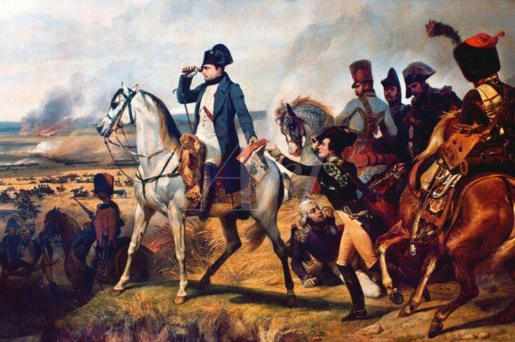 Emile Jean Horace Vernet: Napoleon Bonaparte in der Schlacht von Wagram, 6.Juli 1836. 1836 - Wandbilder selbstklebend