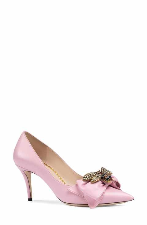 d810682b4 Gucci Queen Margaret Bee Bow Pointy Toe Pump (Women) | J'aime ça ...