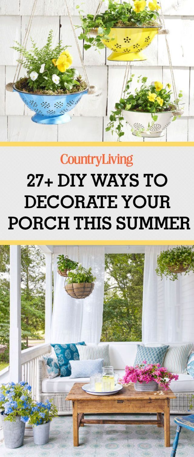 The best DIY ways to decorate your porch and patio this summer