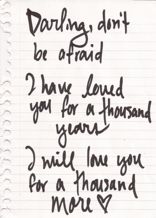 christina perri - a thousand years lyrics
