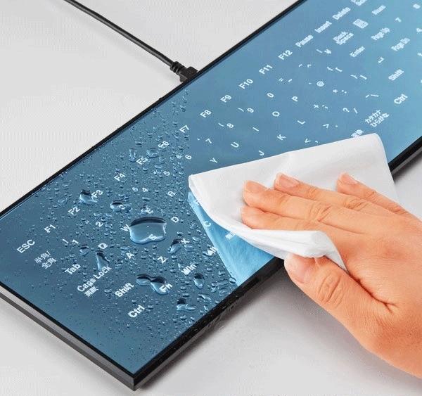 Touchscreen keyboard.