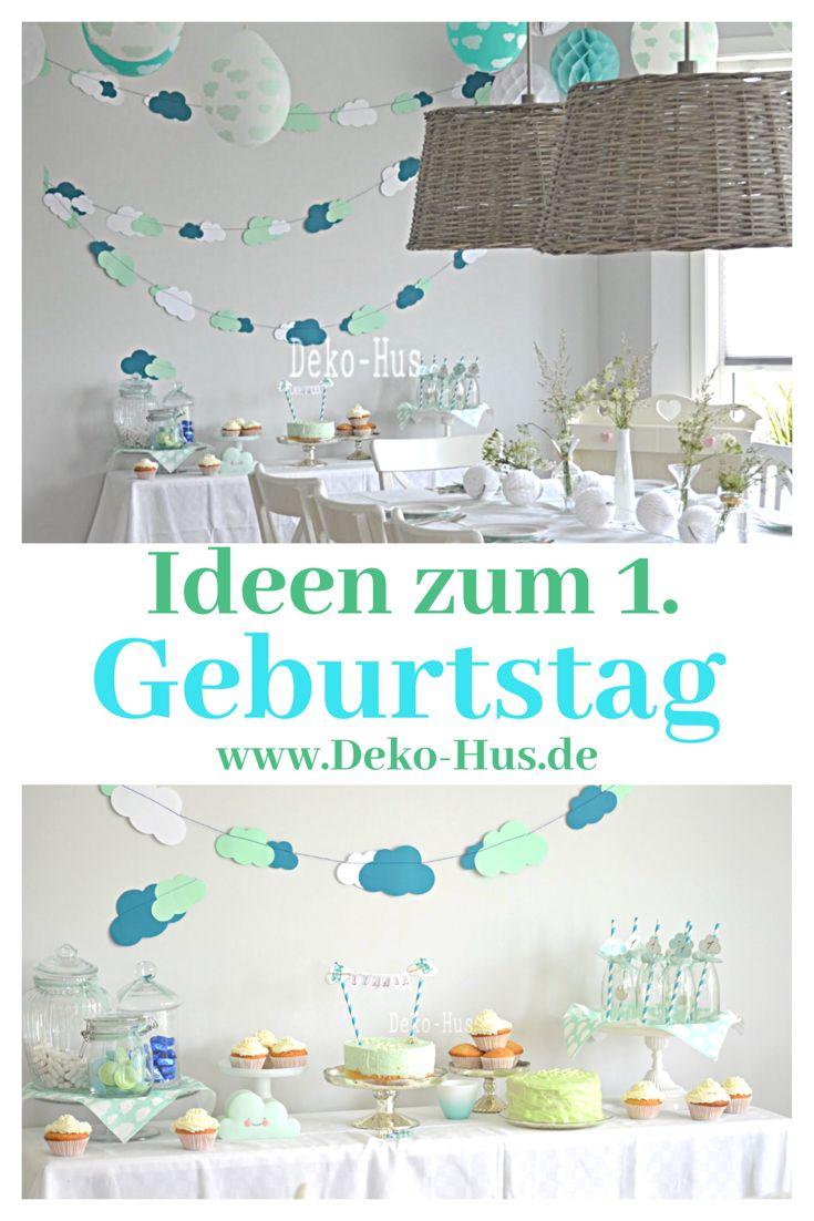 Waldmeistertorte Und Wolken Deko Geburtstag Deko Geburtstag