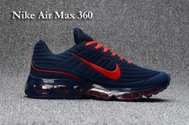 Cheap Men's Nike Air Max 360 Running Shoes Deep Blue Sale