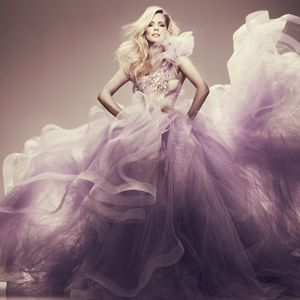 Purple Alex Perry gown