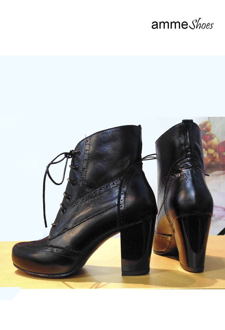 Botas en cuero negro disponibles en nuestra tienda #zapatos #botas #cuero #negro