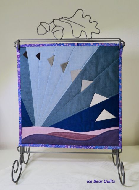 """November Twelve times 12"""" x 12"""" by one quilt"""