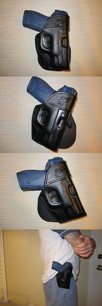 Holsters 177885: M And P Shield 9Mm And 40 Cal. Paddle Holster, Formed Leather,Owb Belt Holster -> BUY IT NOW ONLY: $54 on eBay!