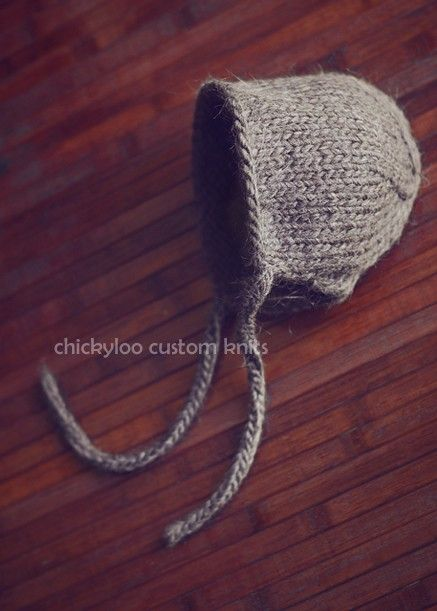 Knit newborn classic bonnet