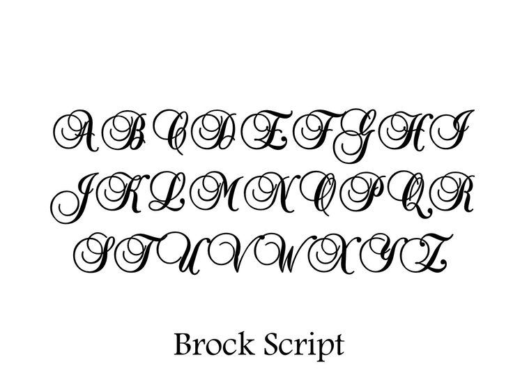 Stencil brock script alphabet inch via etsy