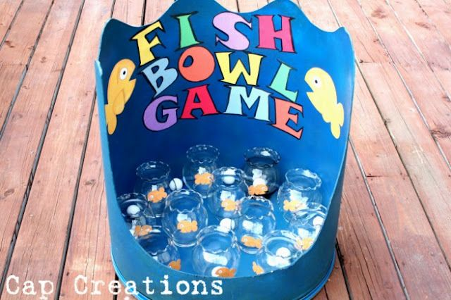 carnival games. Looks like a fun ensentive for working on skills. May have to use plastic bowls instead of the glass.