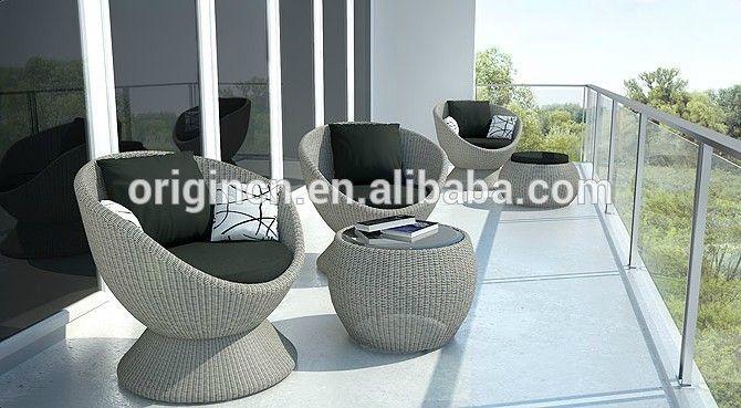2016 moda casa rattan terraço mobiliário de lazer com mesa de chá e mesa cadeira de chão em forma de ovo-imagem--ID do…