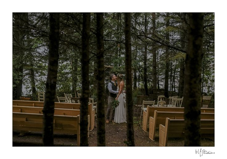 A beautiful wedding ceremony location, in the woods next to a lake. #lakewedding #woods #ceremony #weddingideas #bohemian #lacdubonnet #blfstudios