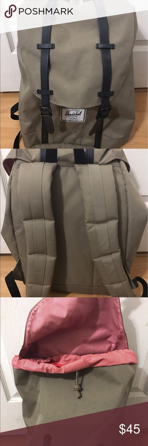 """Herschel Supply Co. Retreat Backpack in Lead/Black NO trades BUNDLES: 10% off for 3+, 15% off for 5+ (just let me know so I can create a different bundle for the 5+ items since Poshmark only allows for one option)  40 🅿️ 15"""" laptop sleeve, used for 10 months Herschel Supply Company Bags Backpacks"""