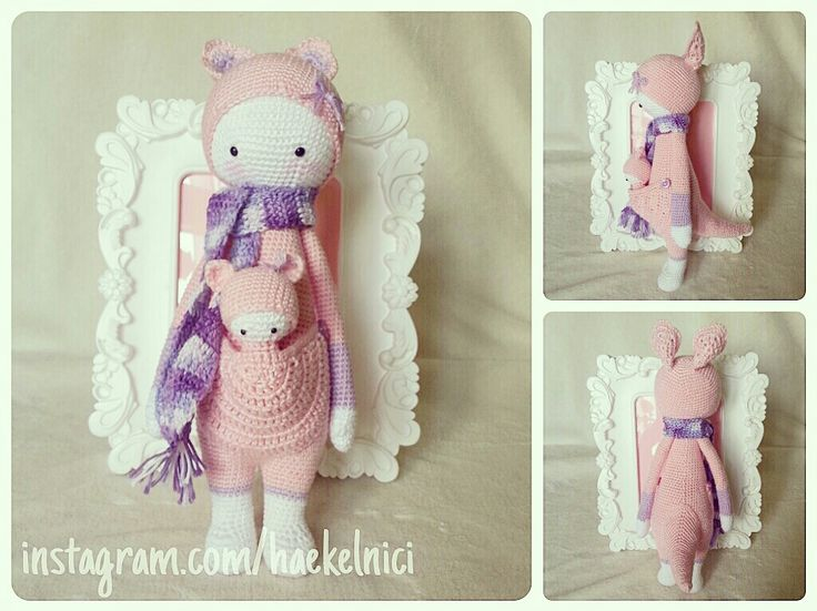 KIRA the kangaroo made by Nicole R.-P. / crochetpattern by lalylala