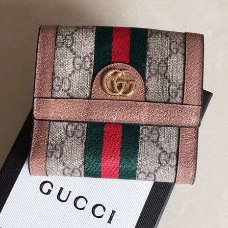 9368d0d0da56 Gucci Ophidia GG French Flap Wallet 523173 Pink 2018 | Gucci 2018 ...