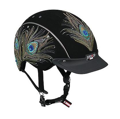 Casco Swarovski crystal adorned horse riding helmet. WANT