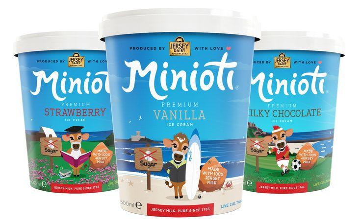 Minioti launches sugar-free kids' ice cream made from Jersey milk