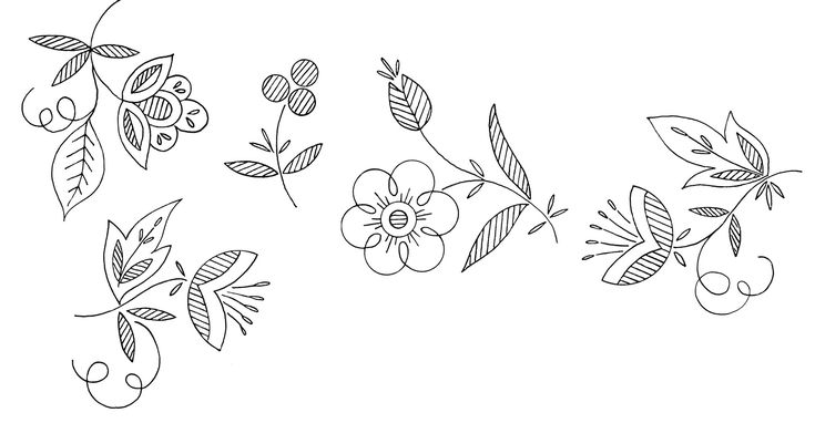Indie flowers molde y flores for Embroidery office design version 7 5