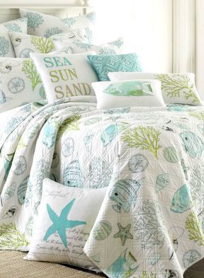 Dreamy beach bedding: http://www.completely-coastal.com/2010/07/coastal-and-nautical-bedding.html