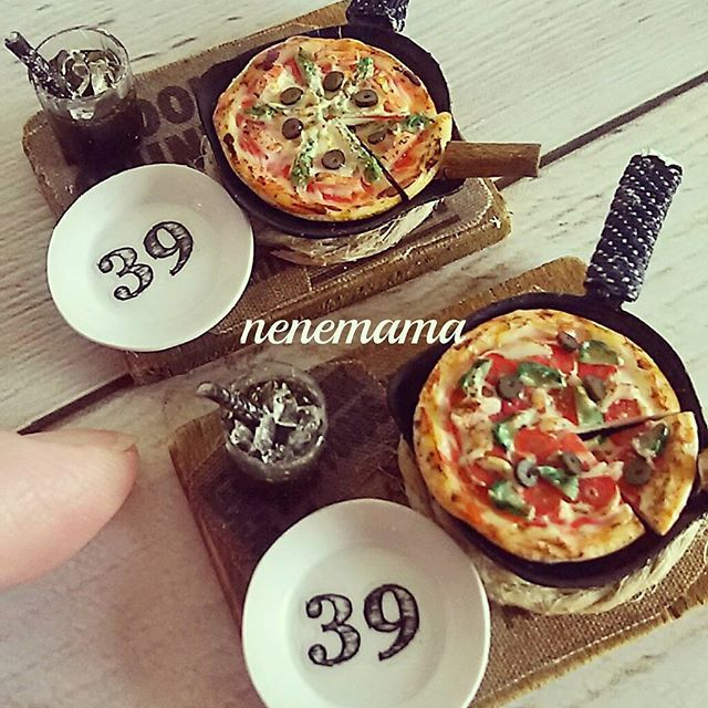 #minne #miniature #miniaturefood #handmade #clay #dollhouse #pizza