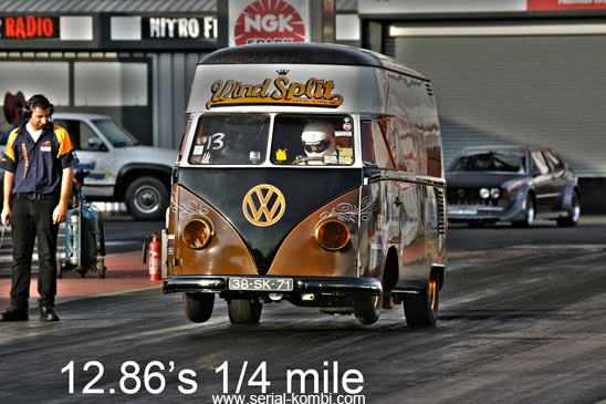 New WindSplit record 1/4 mile 12.86's, pour OUTLAW Flat-Four O/FF 71