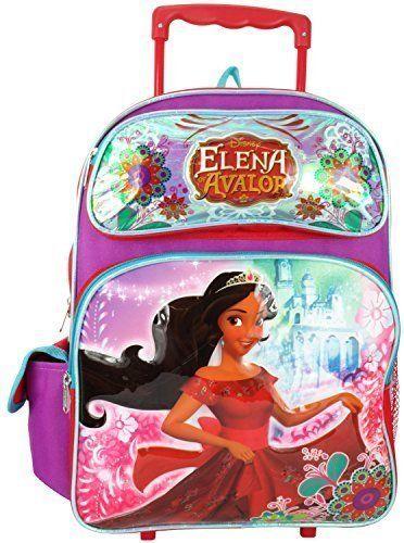Disney Princess Elena of Avalor 16' Large Rolling Backpack. #Disney #Princess #Elena #Avalor #Large #Rolling #Backpack