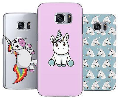 Unicorn Cute Cartoon Art Rubber Plastic Phone Cover Case fits Samsung Galaxy s5 s6 s6 edge s6 edge plus s7 s7 edge j3 j5 j7