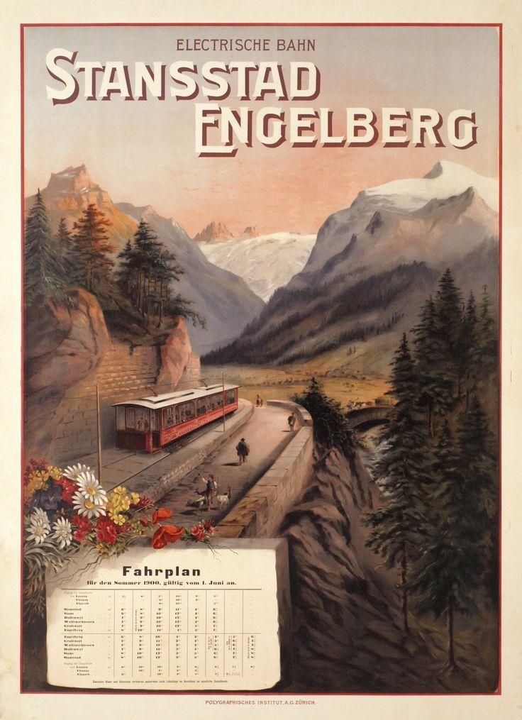 Stansstad Engelberg, Electrische Bahn, Fahrplan 1900 – Posters – Galerie 1 2 3 - The place to find vintage art