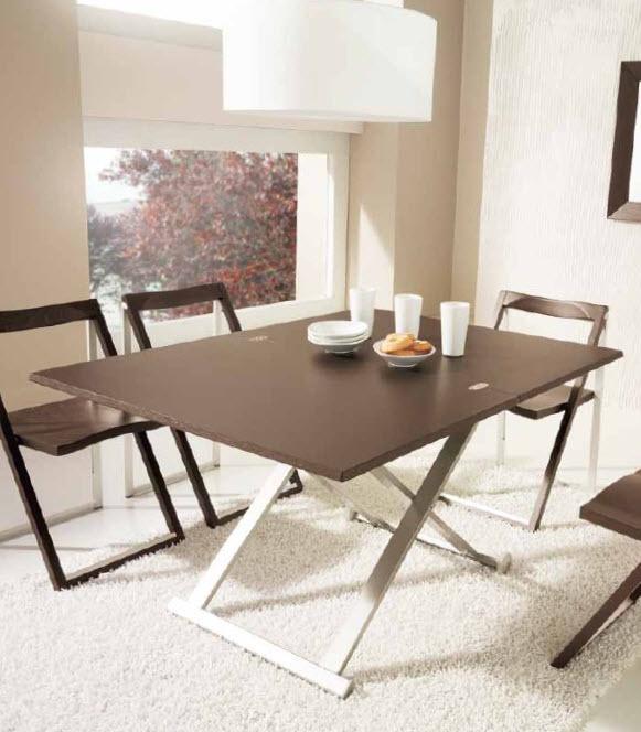 Conjunto de mesa elevable con 4 silla plegables cod for Sillas y mesas plegables