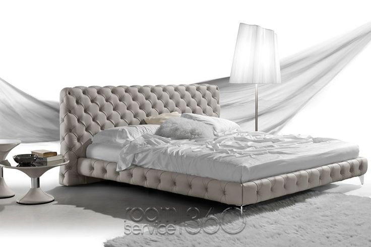 Aston Leather Platform Bed by Gamma #19530