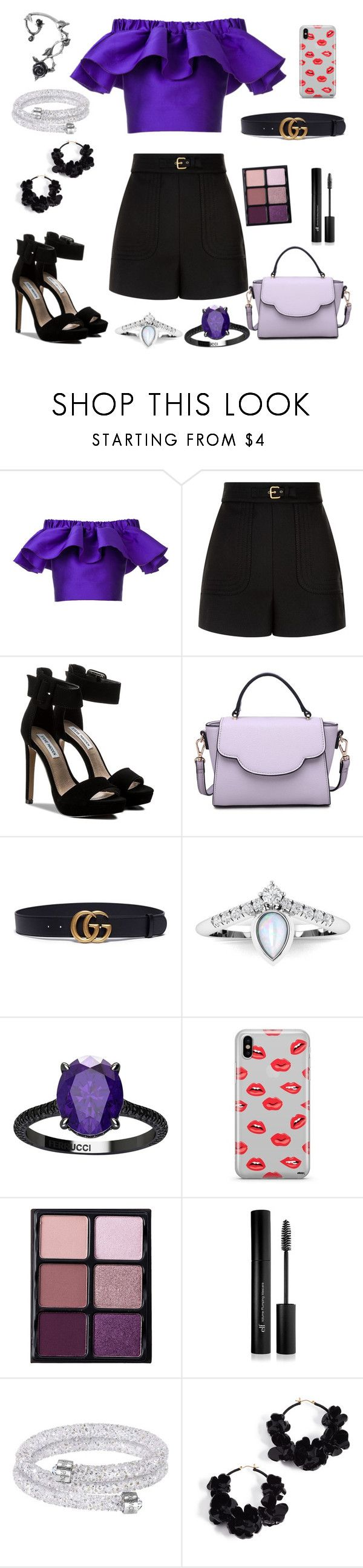 """Summer Day Woman On A Mission"" by carolina-rebocho ❤ liked on Polyvore featuring Maison Rabih Kayrouz, RED Valentino, Steve Madden, Urban Expressions, Gucci, Ferrucci, Samsung, Viseart, Forever 21 and Oscar de la Renta"