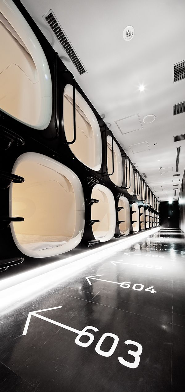 9h - nine hours capsule hotel - Kyoto on Behance
