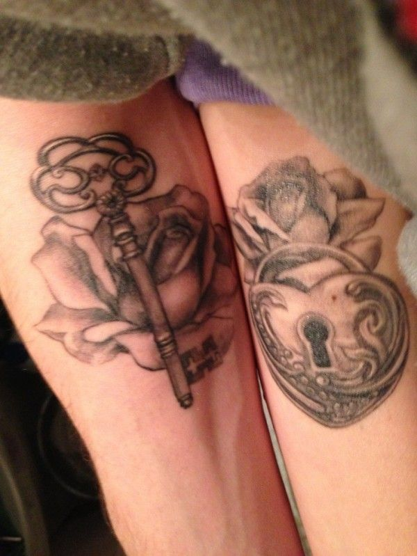 Fotos de tatuagens de fechaduras e cadeados