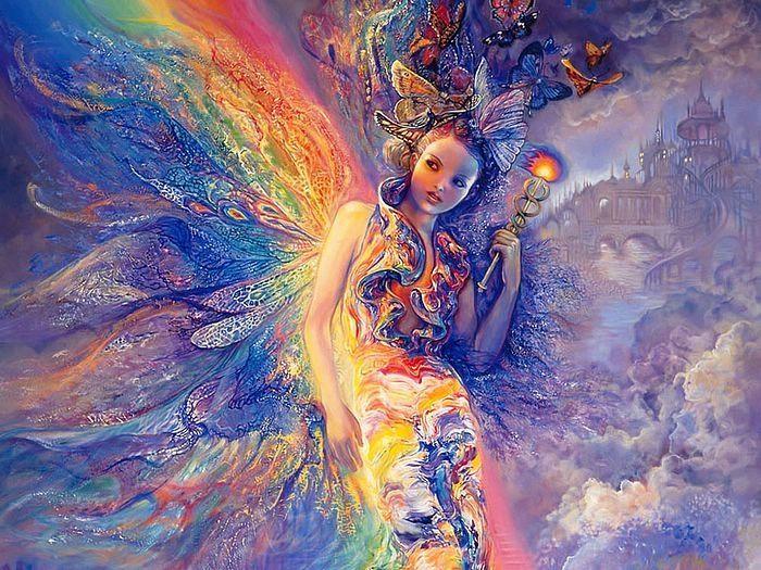 Герои картин для меня похожи на эльфов своей сказочностью и воздушностью.