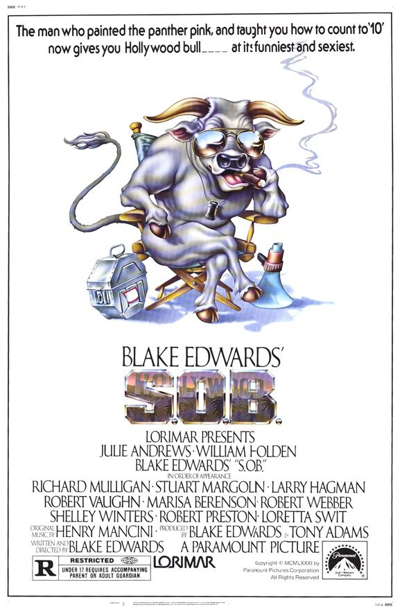 S.O.B. , starring Julie Andrews, William Holden, Marisa Berenson, Larry Hagman. A film-within-a-film: a fading movie producer has a plan for a successful movie: get a actress famous... #Comedy