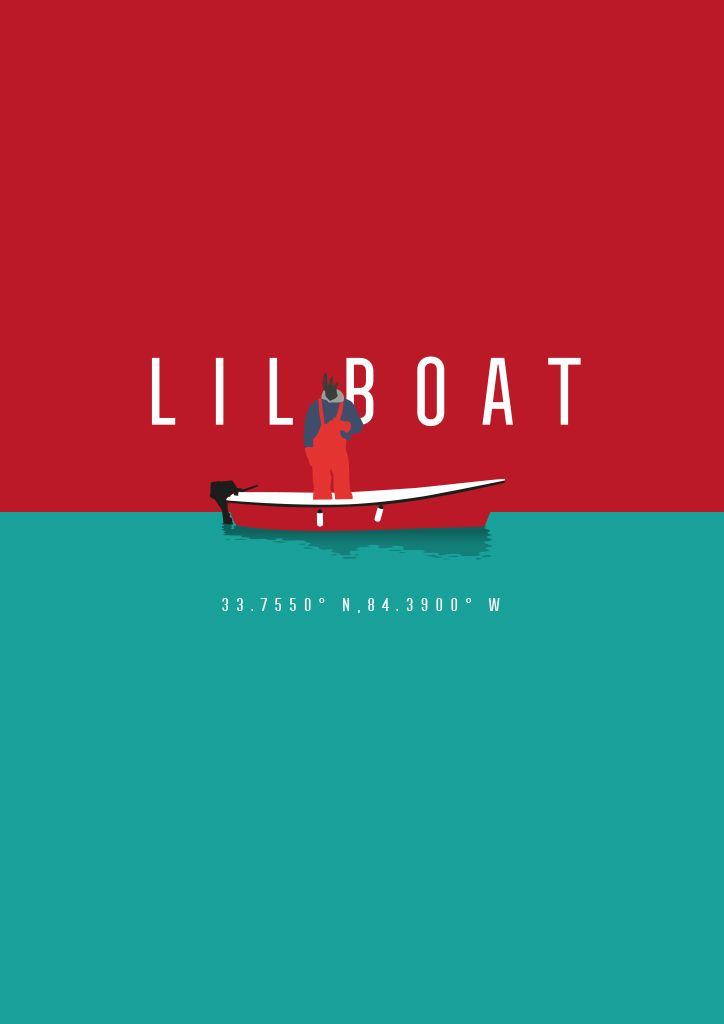 "Poster about LIL YACHTY's mixtape ""Lil Boat"". Illustration, print, poster, conceptual, design, music, trap, Federico Gastaldi, Salzman International."