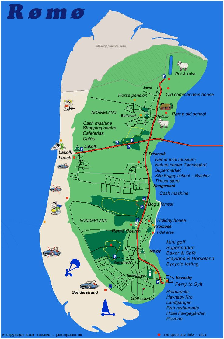 Interactive Map - Landkarte Römö Danemark