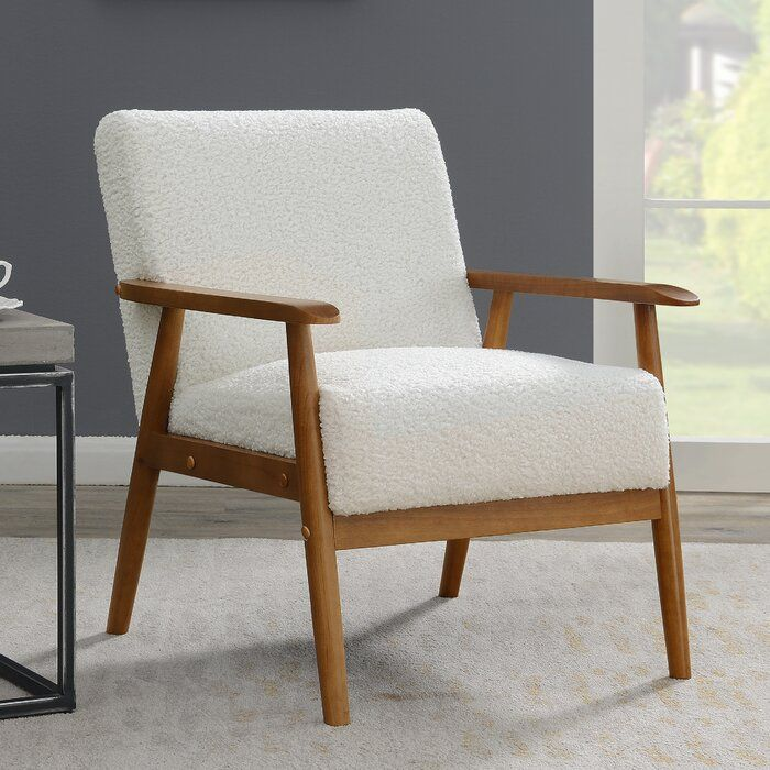 Living Room Decor, Occasional Chairs With Wood Arms