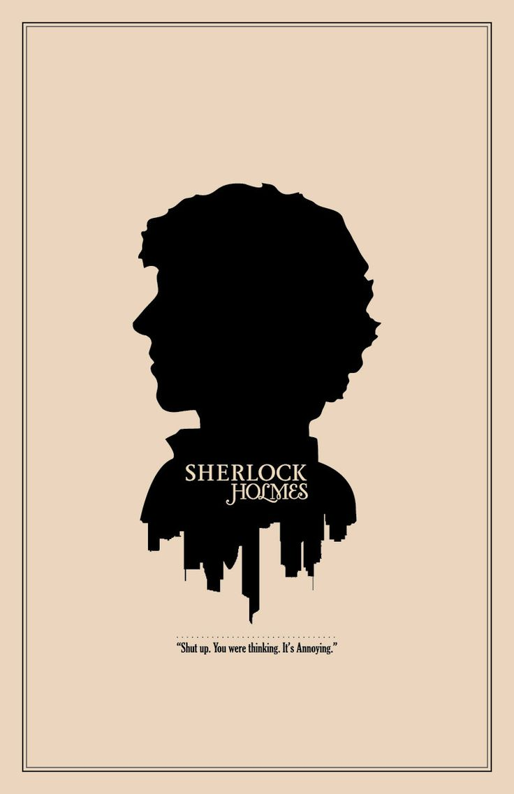 "The Geekerie's ""Sherlock Holmes Silhouette Character Portrait and Quote Poster - Modern 11x17 BBC Inspired Print."" $18.00, via Etsy."