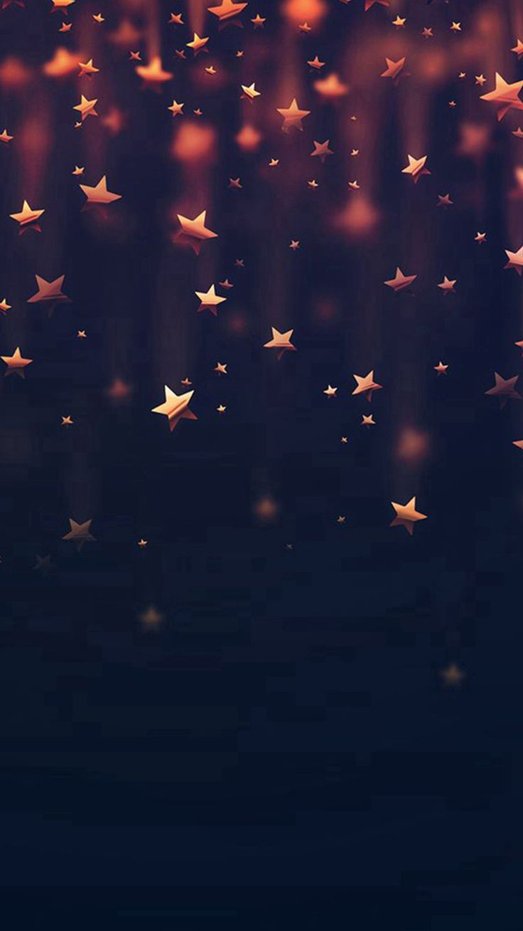Golden Falling Stars IPhone 6 Wallpaper