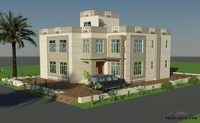 تصميم واجهات فيلا فى عمان Beautiful Villas House Styles House Design