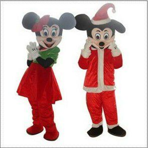 Adult Suit Size Mickey Minnie  Mouse Christmas Adult Cartoon Mascot Costumes Fancy Dress #Affiliate