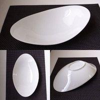 NEW30cmオーバルカーブベーカー(アウトレット)【白い食器カレー皿パスタ皿おうちカフェ業務用食器】