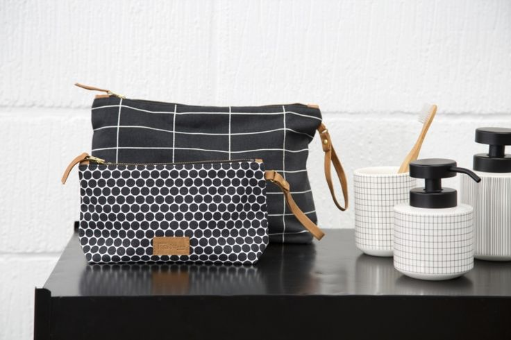 Toilet bag and makeup bag from Mette Ditmer