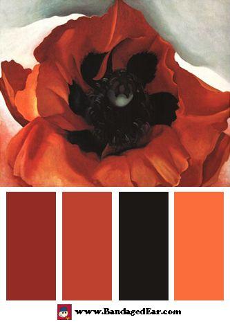 poppy-by-georgia-o-keeffe-color palette